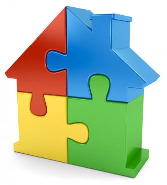 Puzzlehaus bunt